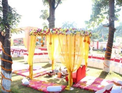 Mandap under mango tree for wedding ceremony Bhopal - Utsav Garden