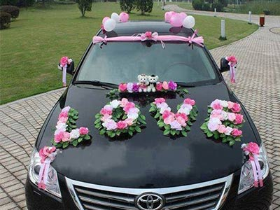Car decoration arranges for wedding in Bhopal - Utsav Marriage Garden