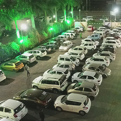 Valet Parking Arrangement for the wedding in Bhopal - Utsav Marriage Garden
